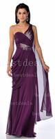 2013 Sexy Grape Ruffles Chiffon Formal Dresses One Shoulder ...