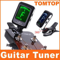 Guitar Clip-on Black Backlight Clip-on Guitar Tuner For Electronic Digital Chromatic Bass Violin Ukulele LCD I96 10pcs