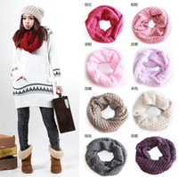 Wholesale Knitting Scarf Woolen Mufflers Female Models Huge Shawl Bib Scarves