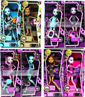 Wholesale retail Monster High Fashion Dolls set monster Action Figure doll toy