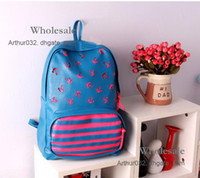 Wholesale High Quality Students School Boys Girls Bag Shoulder Pierced PU Handbags Students Backpack Backbag