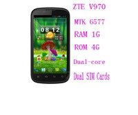 "ZTE 4.3 Android Support Russian original ZTE V970 4.3"" IPS touch screen Android4.0 CPU MTK6577 1GHz RAM 1GB ROM 4GB"