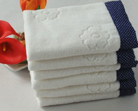 Wholesale 5pc cm Thicked white cotton towel bath towel Hand Face Towels Strong water