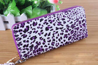 Wholesale European Woman s day Clutches leopard design with sequence work evening Purse Handbag wallet