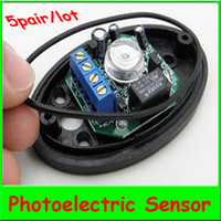 Wholesale 5pair Single Beam Detector ABO Active Half Egg Beam Infrared Detector Photoelectric Sensor