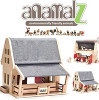Wholesale retail Australia Anamalz the doll farm organic maple animal room wooden house with six animals dolls