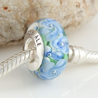 Wholesale lampwork murano glass beads fit european Bracelet diy big hole design