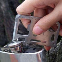 Wholesale 5 cm in Emergency Outdoor Multi Tool Army marine military Hunting Survival Kit Pocket Credit Card Knife