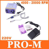Wholesale NEW Electric Nail Drill Manicure Machine Tool Pedicure Bits with Foot Pedal V EU Plug Free