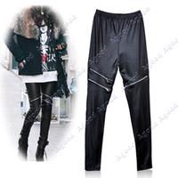 Women Skinny,Slim Capris Stylish Women's Girls Black Faux Leather Zip Up Fashion Skinny Pants Leggings 6141