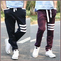 Wholesale sport men s pants three bars sweatpants basketball men s jogging leisure pants men s sports pants