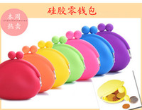 Wholesale Multi color Silicone Coin Purse Lovely Coin Bag Silicone Money Bag Coin Wallet