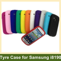Silicone For Samsung For Christmas Wholesale Cute Tyre Case for i8190 Soft Silicone Case for Samsung Galaxy SIII S3 Mini i8190 30pcs lot