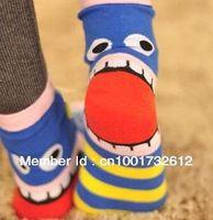 Ankle women cute socks - Expression Women socks Korea Cute Stripe insect Mouth Cotton Wacky Socks pairs pack