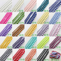Wholesale DIY Colors U pick Mixed or single color Round Glass Pearl Loose Beads