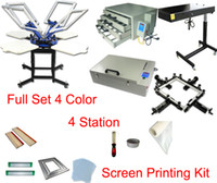 Wholesale FAST discount full set color t shirt screen printing kit press printer machine flash