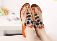 Wholesale Women s Sandals Shoes Lovey Cartoon Bead Diamante Lady s Slippers Dress Shoe L