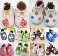 Wholesale Promotion Cowhide Baby Soft Sole Walking Shoes Genuine Leather baby first walker Shoes pair