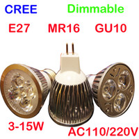 Wholesale LED light lamp spotlight led buld x4 w dimmable led GU10 E27 M16