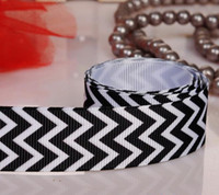 Wholesale chevron pattern ribbons black grosgrain ribbon yards Polyester C177