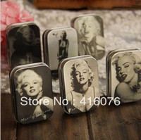 Wholesale Classic Collection Marilyn Monroe Mini Tin Storage Box Retro Metal Jewelry Case styles