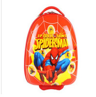 Wholesale school cuties kids travel rolling trolley luggage cartoon suitcase spider man
