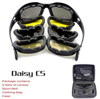 Wholesale Brand NEW Daisy C5 Desert Storm Sun Glasses Goggles Tactical eye Protective Riding UV400 Glasses