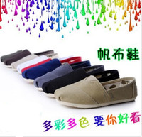 Wholesale Casual Shoes Canvas Summer Men Women Solid Color Stripe Style Eva Mix prs