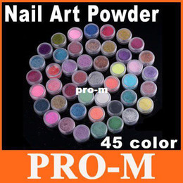 Wholesale 45 Color D Nail Art Acrylic Powder Manicure Nail Tips