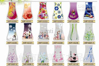 Wholesale MIX folding vase PVC vase foldable vase small opp bag eco friendly vase DIY flower vase