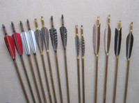 Wholesale Discount handmade arrows with natural turkey feather fletchings