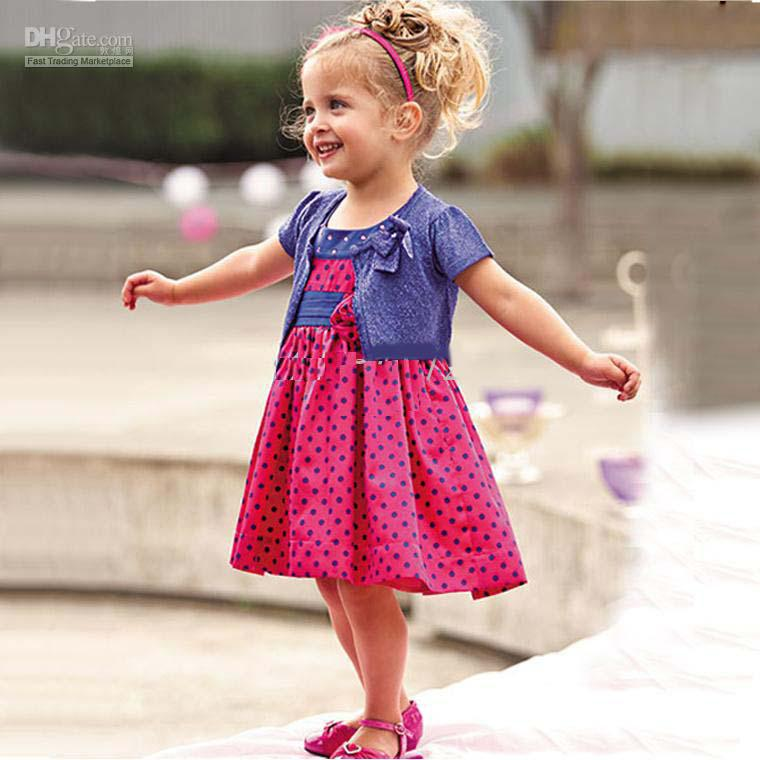 Baby sets girls suits outfits princess dotted one piece dresses tank