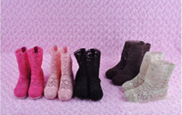 Wholesale Girl s Boots Hollow Out Boots Baby princess love knitting hollow out short boots