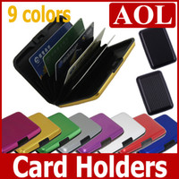 Wholesale 9 colors Aluminum Credit Card Business Wallet Case Card Holder Protection Organizer promotion gifts