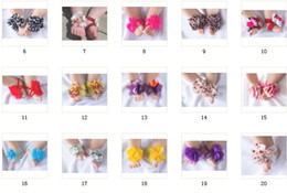 Wholesale 200pcs pairs TOP BABY Slipper baby feet accossories Barefoot Sandals flower cute infant shoes