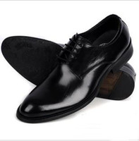 Spring and Fall Leather Genuine Leather British euro style concise air leather dress shoes authentic office men business leather shoes