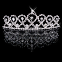 Wholesale Lovely Fashion Rhinestone Silver Plated Tiara Crown for Wedding Party Bridal Head Accessories Headpieces Shop Now