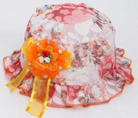 Girl Summer Newborn Hat 2014 Autumn 0-2years children Princess Hat Flower Lace Cap flower pots hat baby caps bucket hats 20P