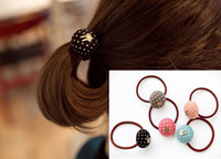 Wholesale Cute Rabbit Hair Rubber Bands Pony Tails Holder Women Hair Tie Fashion Hair Accessories FS150