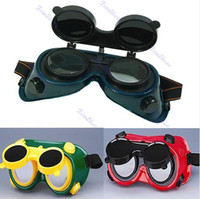 Wholesale New Welding Solder Goggles With Flip Up Darken Glasses Cutting Grinding Safety