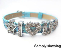 Wholesale 130pcs mm A Z Slide Letters with full Rhinestones DIY Accessories Fit Pet Collar amp Wristband
