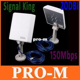 Высокая мощность сигнала король 20DBI открытый SignalKing беспроводной USB Wifi адаптер 150 Мбит / с антенна SK-8TN