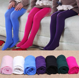 Wholesale 2013 Girls Velvety Colored Pantyhose Children Bottoming Pantyhose Girls Pantyhose