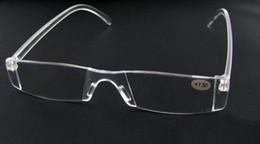 20pcs lot Unbreakable clear white reading glasses plastic reading glasses lenses degree from +1.00 to +4.00