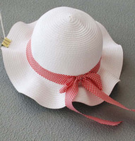 Girl Summer Visor Kids White Sunbonnet Baby Bucket Hat Straw Hat Girls Cute Bowknot Cap Fashion Sun Hat Wide Brim Hats