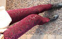 gold leggings - New Women s Pants Popular Leggings Laser Embroidery Pattern Gold Velvet Backing Pants Piece