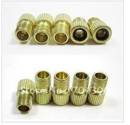 Wholesale Bicycle Bike Valve Adaptor presta valve to schrader valve converter comes with rubber ring washers