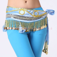 Belly Dancing beaded velvet belly dance dancing tribal velvet hanging coins tassles hip scarf wrap belt waist chain wear costume