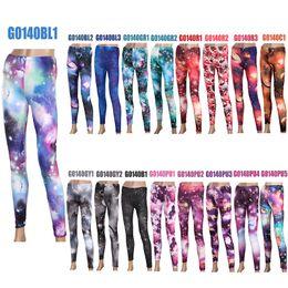 Wholesale 5pcs sexy Women Galaxy Leggings Black Milk Sky Starry Night Tights Space Print Pants G0140