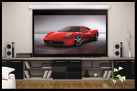 Wholesale 100 Inch Motorized Projection Screen RC white matte Electric Full HD projector Screen